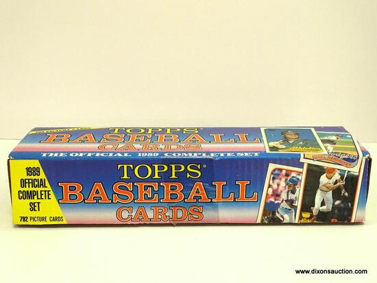 OFFICAL 1989 COMPLETE SET OF TOPPS BASEBALL CARDS,792 CARDS INCLUDES PLAYERS SUCH AS JOSE CANSECO,