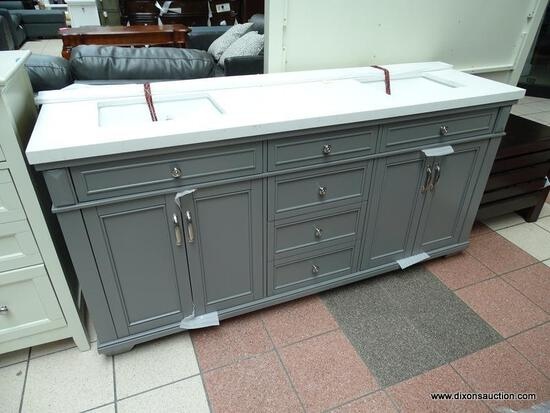 """BRAND NEW ROCKVALE 72"""" VANITY BY NORTHRIDGE HOME. ELEGANT ANTIQUE TOUCHES COMPLEMENT THIS CLASSIC"""