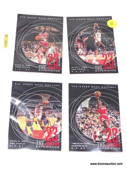 """4 JORDAN INSERT CARDS FROM THE UPPER DECK COMPANY AND THE """"23 NIGHTS THE JORDAN EXPERIENCE"""" SERIES."""