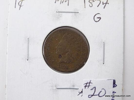 1874 INDIAN CENT.