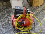 (R1) CENTRAL PNEUMATIC AIR COMPRESSOR WITH 100 MAX PSI AND 1/3 HP. HAS A 3 GALLON CAPACITY AND IS
