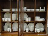 (R1) LARGE PFALZGRAFF LOT TO INCLUDE CANDLESTICK HOLDERS, BOWLS, PLATES, CUPS, A CREAMER, LUNCHEON