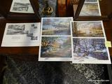 (R1) SET OF 4 UNFRAMED KEN ZYLLA BIRD PRINTS. 1 IS TITLED LIFTING TO THE NORTH, 1 IS TITLED NARY A
