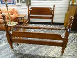 (R1) WILLET FURNITURE FULL SIZE BED FRAME WITH WOODEN RAILS. ITEM IS SOLD AS IS WHERE IS WITH NO