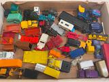 (S14N) ASSORTED VINTAGE MATCHBOX, CORGI & HOT WHEELS TOY CARS INCLUDING TWO UHAUL TRAILERS, MOSTLY