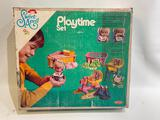 (S15O) SWEET APRIL BUSY DAY PLAYTIME SET IN ORIGINAL BOX BY REMCO 3049 BABY DOLLS AND FURNITURE
