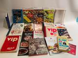(S11K) LOT OF ASSORTED VINTAGE COOKBOOKS INCLUDING JULIA CHILD RULES, VIP COOKBOOKS, SALSA, SUSHI,
