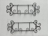 MATCHING 26 INCH METAL WALL HANGING PLATE RACKS FOR PLATE PAIRS