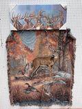 (S12L) WHITETAIL DEER BUCK CAPE CRAFTSMAN GICLEE PRINT OUTDOOR CANVAS (36 X 15 INCHES) AND A