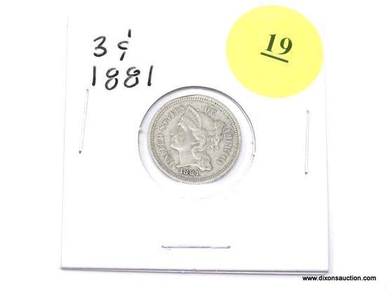 1881 Three Cents