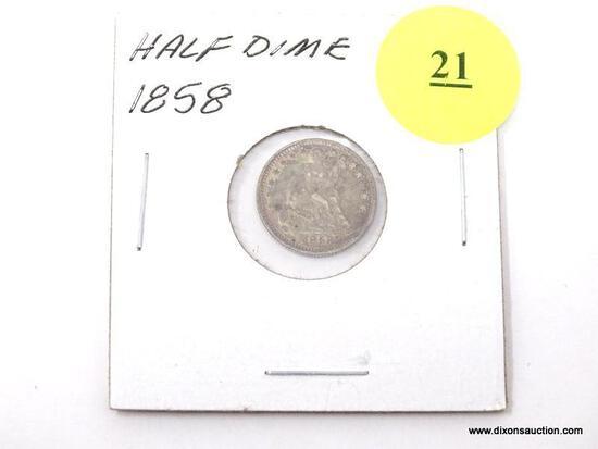 1858 Half Dime - Seated Liberty