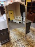 (R1) ASPENHOME PROVIDENCE FLOOR LENGTH MIRROR. MEASURES 34 IN X 65 IN. ITEM IS SOLD AS IS WHERE IS