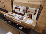 (R6) UNIVERSAL BROADMOORE QUEEN STORAGE BED. IS IN BOX (3 BOXES TOTAL). RETAILS FOR OVER $500