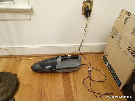 (DR) SHARK CORDLESS HAND VAC, ITEM IS SOLD AS IS WHERE IS WITH NO GUARANTEES OR WARRANTY. NO REFUNDS