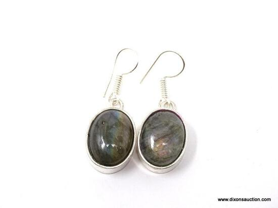 """.925 1/8"""" AWESOME LABRADORITE EARRINGS - NEW! SRP $49.00"""