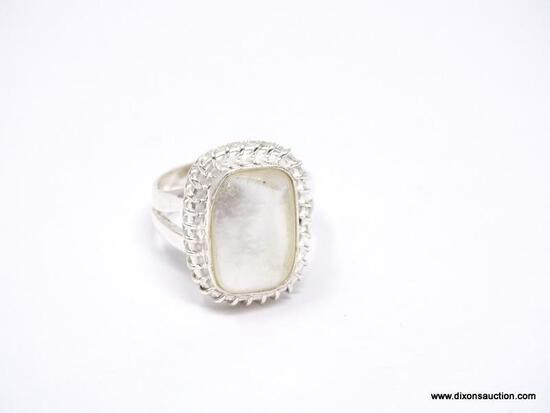 .925 AAA MOTHER OF PEARL DETAILED RING SIZE 6.75 - NEW! SRP $49.00