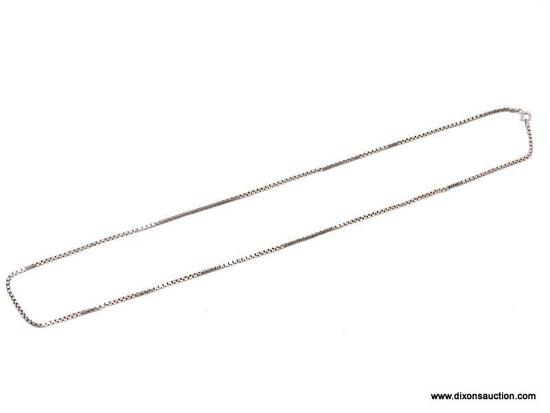 """.925 STERLING SILVER UNISEX 24"""" BOX CHAIN. ITEM IS SOLD AS IS WHERE IS WITH NO GUARANTEES OR"""