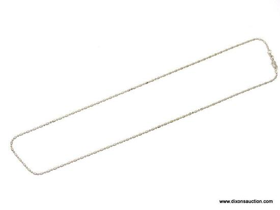 """.925 STERLING SILVER LADIES 20"""" BEADED NECKLACE. ITEM IS SOLD AS IS WHERE IS WITH NO GUARANTEES OR"""