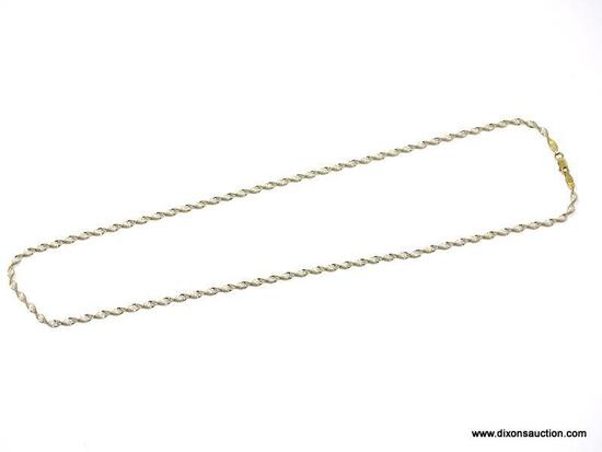 """.925 STERLING SILVER LADIES 30"""" TWISTED HERRINGBONE NECKLACE. ITEM IS SOLD AS IS WHERE IS WITH NO"""