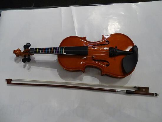 (SC) STUDENTS SIZE VIOLIN IN HARD CASE WITH BOW AND RESIN. ITEM IS SOLD AS IS WHERE IS WITH NO