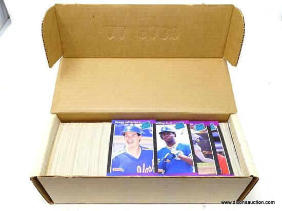 1989 DONRUSS BASEBALL CARDS. ARE IN A PROTECTIVE BOX. BOX APPEARS TO BE FULL. ITEM IS SOLD AS IS