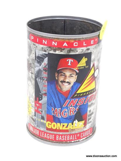PINNACLE 97' BANGERS GONZALEZ COLLECTIBLE CAN. HAS BEEN OPENED. ITEM IS SOLD AS IS WHERE IS WITH NO