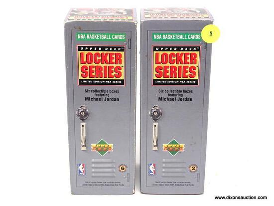 UPPER DECK LOCKER SERIES COLLECTIBLE BOXES FEATURING MICHAEL JORDAN. ITEM IS SOLD AS IS WHERE IS