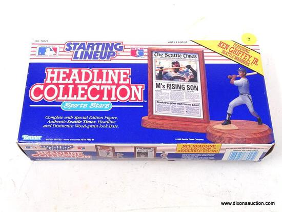 STARTING LINEUP HEADLINE COLLECTION SPORTS STARS COLLECTIBLE BOX. HAS BEEN OPENED AND RESEALED. ITEM