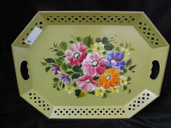 Towle Ware Painted Tray - Green
