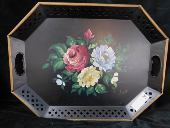 Towle Ware Painted Tray - Black