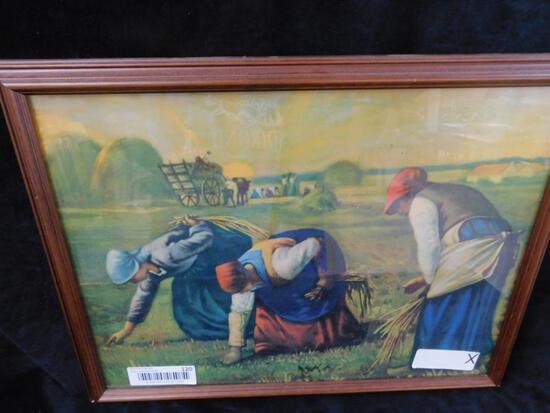 Vintage Farming Scene Print