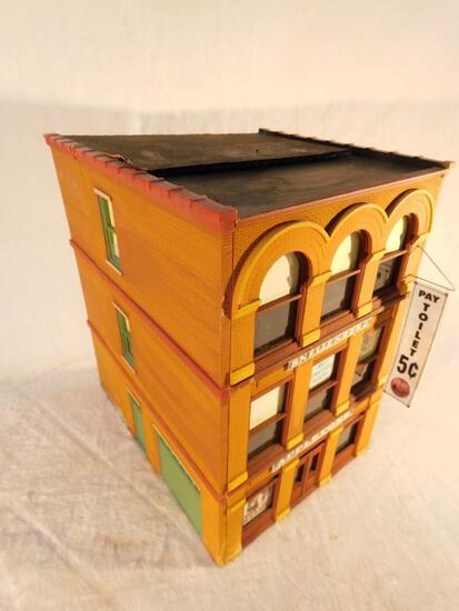 "Ameritown Three Story Building Front and Sides ""O"" Gauge Used"