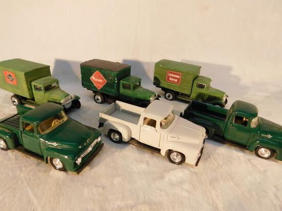Vehicles of the 1950s in 1:43 scale 3 Pick Up Trucks 3 Box Trucks