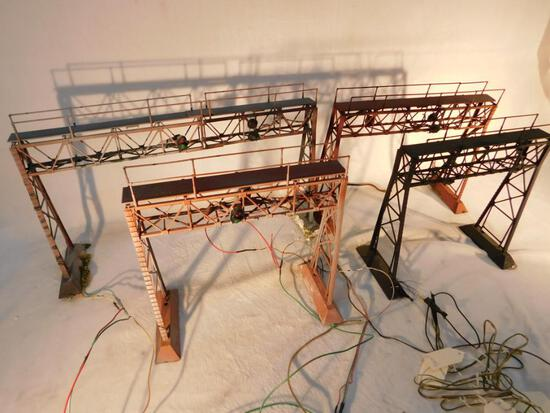 "Electrified Signal Bridges For Multi Tracks ""O"" Gauge Used - 4 Total"