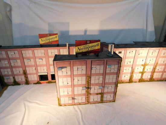 "Industrial Flats - 3 Building Fronts - 3 Sided ""O"" Gauge Used"