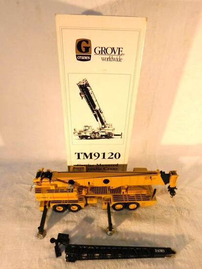 "Grove TM9120 Carrier Mounted Hydraulic Crane Boxed. ""O"" Gauge Used"