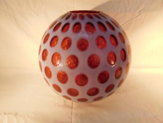Large Cranberry Coin Dot Globe Shade