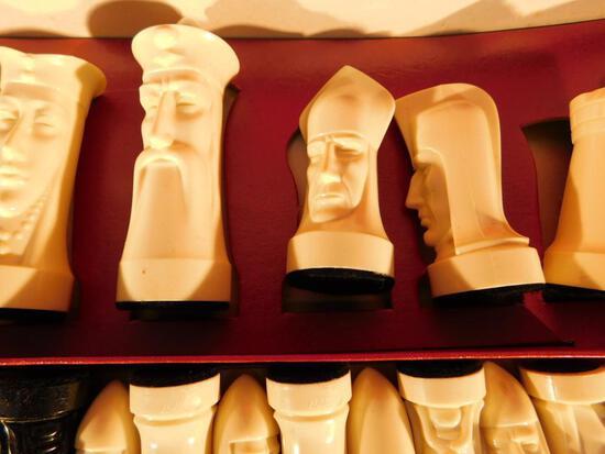 "Ganine ""Gothic"" Sculpted Chess Set"