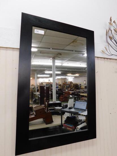 Modern Painted Black Framed Mirror