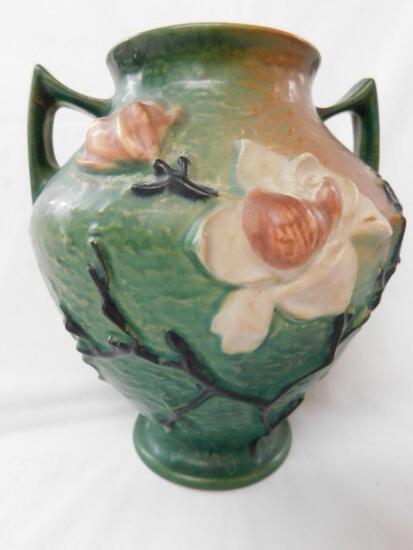 Roseville Double Handled Magnolia Vase