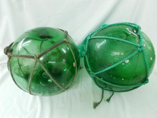 Glass Lobster Fishing Buoy Balls with Roping