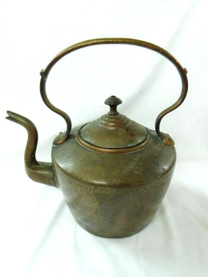 Vintage Copper Coffee Pot with Lid