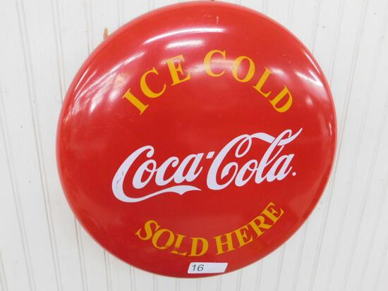Reproduction Coca Cola Button Sign
