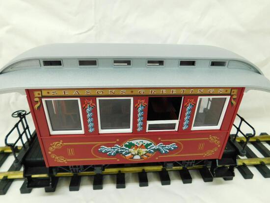 LGB - Lehmann- G-Gauge -# - 1996 Christmas Passenger Car - Red