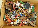 Huge Box of Misc. Model train Set Up Figures and Misc. Items