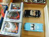 2 Welly Fork Lifts and a Welly Golf Cart - Die Cast in Original Boxes - 2 Die Cast Corvettes