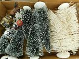 Lot with 8 Model Train Set Up Trees and Snow Figure