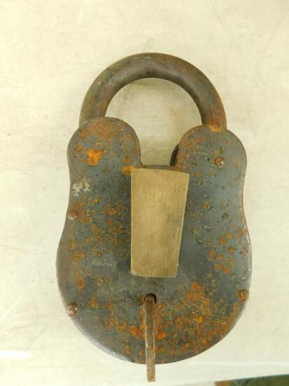Large and Heavy Metal Padlock with Key
