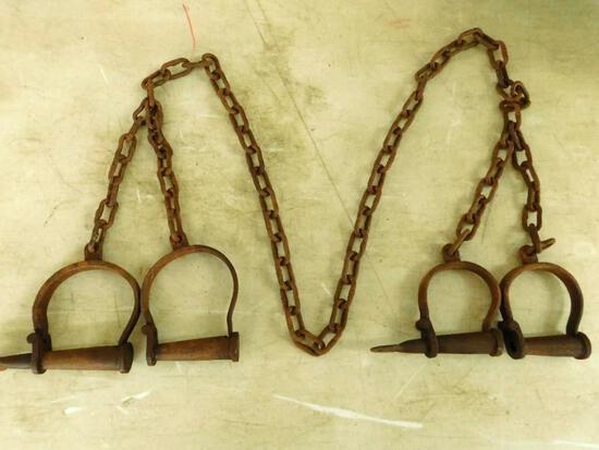 Set Of Metal Shackles