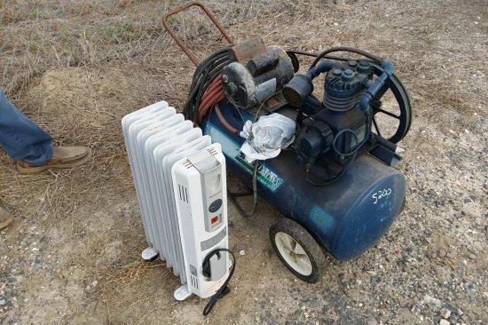 Air Compressor & Electric Heater